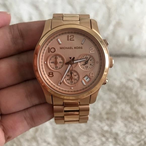 Michael Kors Rose Gold Chronograph Watch MK5128